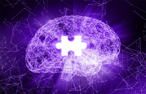 Alzheimer's disease brain puzzle piece