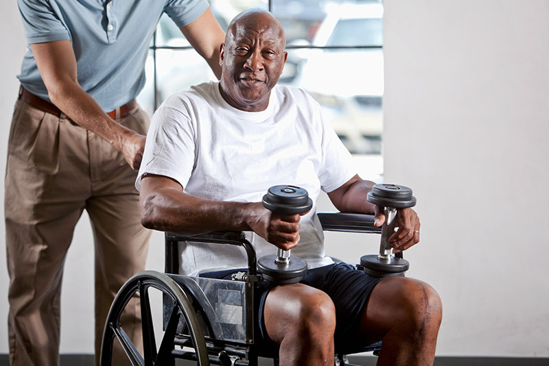 older disabled adult strength training